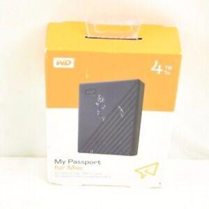 Western Digital My Passport Mac 4TB External USB Portable HardDrive Storage WD