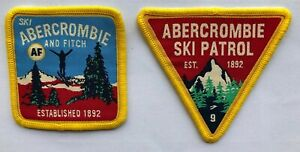 Genuine Abercrombie & Fitch Ski Patrol Fabric Embroidered Patch Emblem Full Set