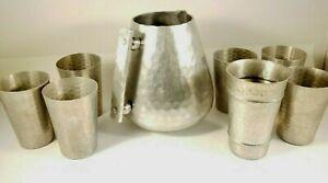 Buenilum and Wrought Aluminum Pitcher and Cup set ! vintage, RARE !
