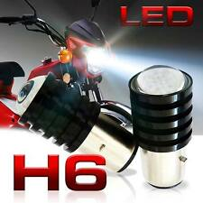 2x H6 LED BA20D HID White Bulb Light T11 Motorcycle Bike Moped ATV Headlight