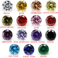 15pcs a lot round loose zircon beads 15 colors mix DIY jewelry stones 3mm - 10mm