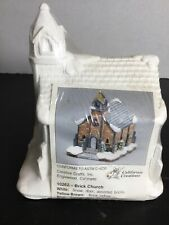California Creations 10262 Brick Church Ready to Paint New Sealed