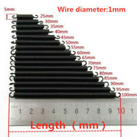 7mm Outer Diameter Extended Extend Tension Spring 20~500mm Long 1.0mm Wire Dia