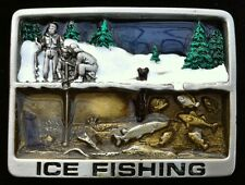 Ice Fishing Belt Buckle River Lake Fisherman Fish Bait Boucle De Ceinture