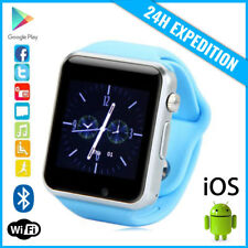 Original A1/W8 Smart Watch Montre Facebook Bluetooth SIM Slot Android iOS Blue