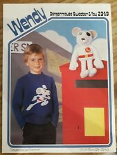 Wendy. Dangermouse sweater and Toy Knitting pattern By Joy Gammon