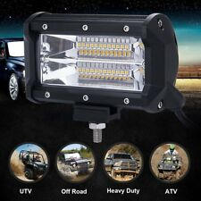 5'' 72W LED Work Light Bar Flood Driving Lamp Waterproof For Jeep Truck Off-Road