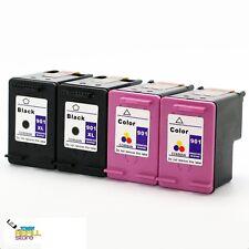 4PK Ink for HP 901XL CC654AN Black & HP 901 CC656AN OfficeJet G510a G510g J4550