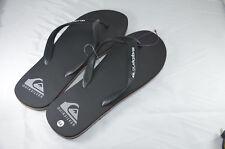 QUIKSILVER Men's UK 10 EU 44 US 10.5 Flip Flop Sandal Black Grey Orange NEW NWoT