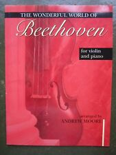 Wonderful World of  Beethoven for Violin and Piano *NEW*  Published Mayhew
