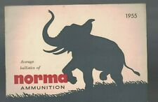Average Ballistics of Norma Ammunition 1955 Booklet Elephant Cover