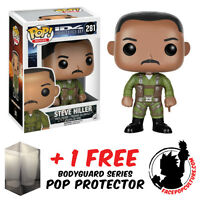 FUNKO POP INDEPENDENCE DAY STEVE HILLER VINYL FIGURE WITH FREE POP PROTECTOR