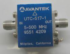 Avantek UTC-517-1 High Performance RF Amplifier 5-500 Mhz 1dB