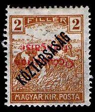 1918-19 HUNGARY #1N26a ***INVERTED OVERPRINT*** - OGH - VF - CV$50.00 (ESP#9880)