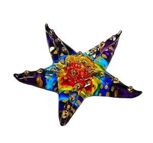 Miniature Starfish Glass Blown animals figurine Art glass figurine dollhouse