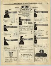 1932 PAPER AD Plumb Hatchet Broad Axe Acme Lathing Hatchets