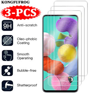 Tempered Glass Screen Protector For Samsung Galaxy A72 A52 A22 A12 A71 A51 A50