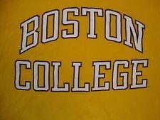 Vintage NCAA Boston College Eagles Sportswear Fan Apparel Yellow T Shirt Size L