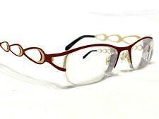 One EZ3549 Women's Red & Tan Modern Half Rim Rx Eyeglasses Frames 51/18~138