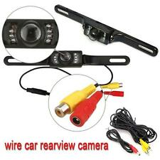 Car Rear View Backup Camera 8 IR Night Vision License Plate Frame Camera CMOS LL