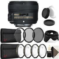 Nikon AF-S NIKKOR 50mm f/1.8G Lens with Accessory Kit For Nikon DSLR Cameras