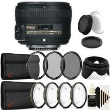 Nikon AF-S NIKKOR 50mm f/1.8G Lens with Accessory Kit For Nikon DSLR Cameras