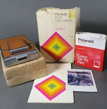 Beautiful Polaroid SX-70 Land Camera Alpha 1 EXCELLENT Working Film Tested