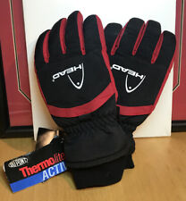 Men's Head Thermolite Active Classic Ski Winter Gloves Size Lg Black Nwt New A6