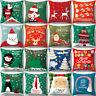 EG_ Christmas Soft Cushion Cover Throw Pillow Case Home Decor Festive Gift Eyefu