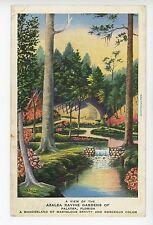 """Wonderland of Beauty"" Azalea Ravine Gardens PALATKA Rare Artist-Signed LA Smith"