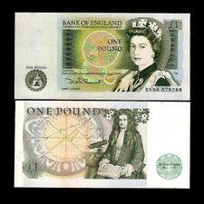 GREAT BRITAIN 1 POUND P377 QUEEN  ISSAC NEWTON UNC CURRENCY MONEY BILL BANK NOTE