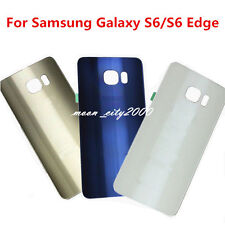 GENUINE GLASS BATTERY COVER REAR BACK DOOR HOUSING FOR SAMSUNG GALAXY S6 EDGE +