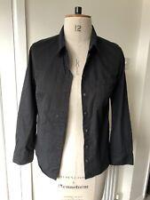 USED | Aubin & Wills Black Cotton Shirt | UK Size 8