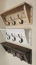 Perchas Perchero Madera Rustica Vintage Reciclado pared de hierro fundido hecho a mano