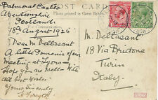 BALMORAL CASTLE :  1925 Single Ring cancel on picture postcard