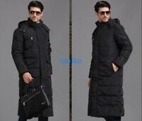 Fashion Men's Long Winter Warm Long Duck Down Coat Outwear Parka Jacket Overcoat