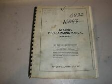 Toyoda CNC Lathe GT32/52 Fanuc 15T Programming Manual