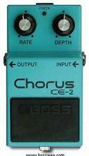 SILVER SCREW BOSS CE-2 CHORUS GUITAR EFFECTS PEDAL JAPAN BLACK LABEL 1980