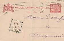 1908 Netherlads Indie card from Surabaya to Banjarmasin (bent)