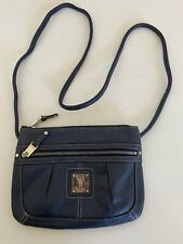 TIGNANELLO NAVY BLUE LEATHER CROSS BODY/SHOULDER BAG