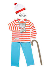 Womens Sexy Where's Wally Fancy Dress Costume Outfit