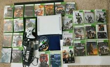 Microsoft Xbox 360 White Console Bundle Controller 160 GB HDD 29 Video Games