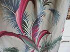 Vintage 1940s Florida Beach Bungalow Florals on Dove Grey NUBBY BARKCLOTH Fabric