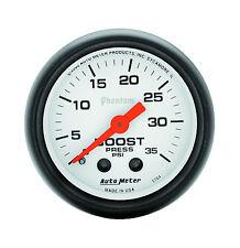 "Autometer Phantom 2-1/16"" Mechanical Boost Pressure Gauge 0-35 Psi (52mm)"