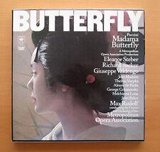 CBS 78246 Puccini Madama Butterfly Steber Tucker Max Rudolf 2xLP + libretto NM