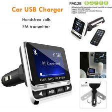 Big Screen Car Mp3 Cigarette Lighter Socket Usb Charger Handsfree Fm Transmitter