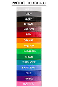 Handmade PVC Dog Lead - 12mm wide - 15 colours!!!