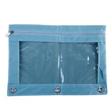 Zippered Binder Pencil Pouch +Rivet Enforced Hole Pencil Case Storage Box Sh