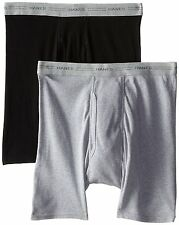 Hanes Tagless Boxer Briefs ComfortSoft Mens XL Black and Gray Underwear  2 Pack