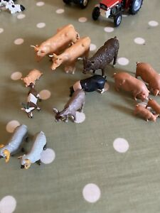 Britains farm animals (various Inc. 1 X 1969 Cow), and Pigs, Piglets, Donkey Etc